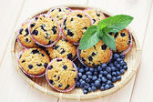 Mascarpone and blueberry muffins — Stock Photo
