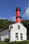 Ligthouse v rozewie, polsko — Stock fotografie