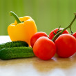 Vegetables. Fresh healthy food on the table — Stockfoto #11399555