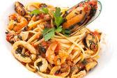 Italian pasta plate — Stock Photo