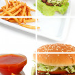 Cheeseburger Collage — Stock Photo