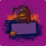Halloween frame — Stockvector