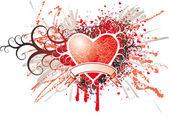 Srdce insignie — Stock vektor