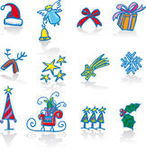 Christmas utilities — Stock Vector