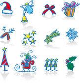 Christmas utilities — Stock Vector
