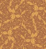 Classic foliage swirl seamless pattern — Stock Vector
