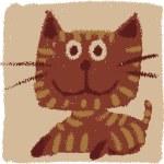 Rude cat — Stock Vector