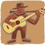 onbeleefd bluesman — Stockvector