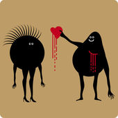 Falling in love — Stock Vector