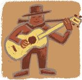 Rude bluesman — Stock Vector