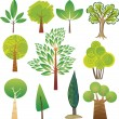 Stock Vector: Tree samples