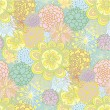 Hand drawn seamless floral pattern — Vettoriali Stock