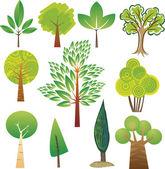 Tree samples — Stock Vector