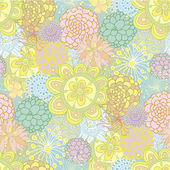 Hand drawn seamless floral pattern — ストックベクタ