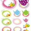 Royalty-Free Stock Imagen vectorial: Adorable scrapbook kitchen elements