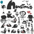 The set of monsters. — Stock Vector #11675040