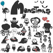 The set of monsters. — Stock Vector