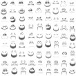 Royalty-Free Stock Vector Image: Set of faces with various emotion expressions