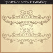 Vintage ornament set — Stock Vector