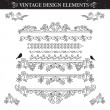 Royalty-Free Stock Vector Image: Vintage ornament set on white background.