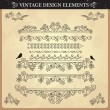 Vintage ornament set — Stock Vector #12330489