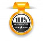 Gold label. 100% Guarantee — Vetorial Stock