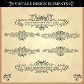 Vintage ornament set — Stock Vector