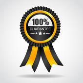 Gele etiket. 100% garantie. — Stockvector