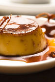 Delicious creme caramel dessert — Stock Photo