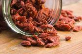 červené sušené goji bobule — Stock fotografie