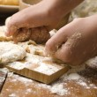 Detail of hands kneading dough — Stock Photo #11667735
