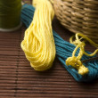 Crochet hook and wool — Stock Photo #11668304