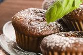 Homemade chocolate muffins — Stockfoto
