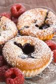 新鮮なフルーツとラズベリー クッキー — ストック写真