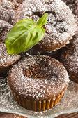 Homemade chocolate muffins — Stock Photo