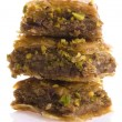 Baklava. Traditional middle east sweet desert isolated on the wh - Stock Photo