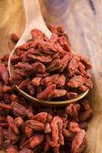 Red dried goji berries — Stock Photo