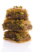 Baklava. Traditional middle east sweet desert isolated on the wh — Stock Photo