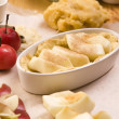 Apple pie ingredients — Stock Photo