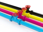 CMYK pipelines — Stock Photo