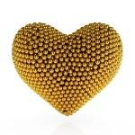 Golden heart — Stock Photo #11443599