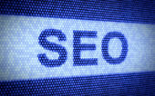 Seo screen — Stock Photo