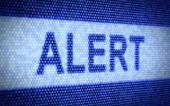 Alert text — Stock Photo