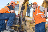 Male Construction Workers on the job — Stock Photo