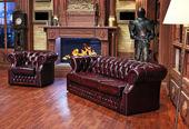 Luxury home living room — Stock Photo