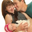 Funny family - Stockfoto