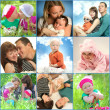 Stock Photo: Parents and kids