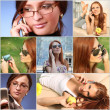 Collage with girls — Stock Photo