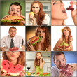 Stock Photo: Eating food