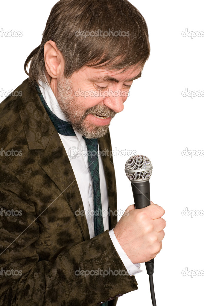 Man sings American jazz blues. — Stock Photo #10836917